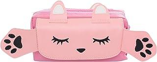 Estuche de lápices,bolsa de lápices de gran capacidad linda, bolsa de almacenamiento de artículos de papelería, estuche escolar tres cremalleras, rosa (Rosa)