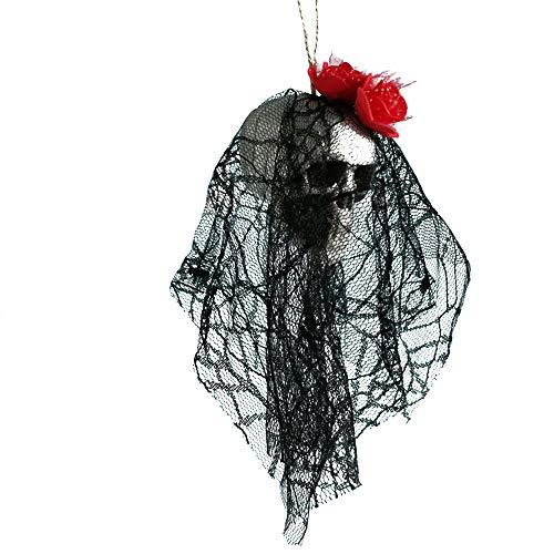 Fan-Ling 2019 New Halloween Hanging Decor,Pirates Corpse Skull Haunted House Bar Home Garden Decor,Foam Wacky Funny Novelty Skull Toys,Halloween Props,Halloween Fake Skull (E)