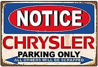 クライスラーパーキングのみウォールメタルポスターレトロプラーク警告ブリキサインヴィンテージ鉄絵画装飾オフィスベッドルームリビングルームクラブのための面白いハンギングクラフト
