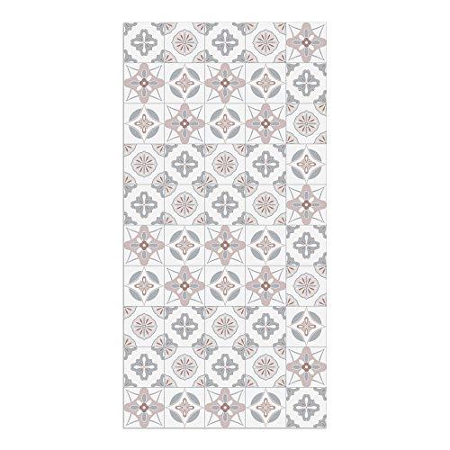 DON LETRA Alfombra Vinílica Baldosas, 100 x 50 cm, Color Rosa, Vinilo PVC Estampado, Grosor 2.2 mm, ALV-087