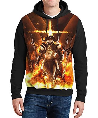 Warcraft Pullover Sudadera de protección contra el frío Confort de la Sudaderas con Capucha de algodón de los Hombres Abrigos de algodón Grueso Ultra Suave Sensación Outwear Outumn Afecto a Prueba de