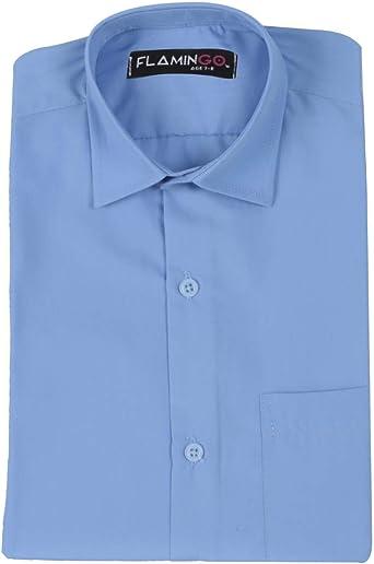SIRRI Camisa de algodón para niños de Ajuste Delgado, Color ...