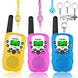 Walkie Talkies for Kids, 22 Channels 2 Way Radio Toy with Backlit LCD Flashlight, Long Range Distance for Kids, Outdoor Fun Toys Gift for Girls Boys Teens Toddlers Women Men[Extra 3 Lanyards]