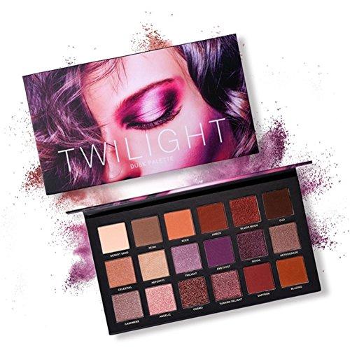 Eyeshadow Palette,ROMANTIC BEAR 18 Couleurs Twilight & Dusk Ombre À Paupières Maquillage Palette Chaude Matte Glitter Oeil Ombres Palette Naturel Longue Durée Cosmétique (A2)