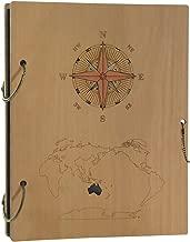 Schliersee Photo Album 4x6 Wooden Columbus's Voyage Cover Vintage Photo Book Hold 120 Photos