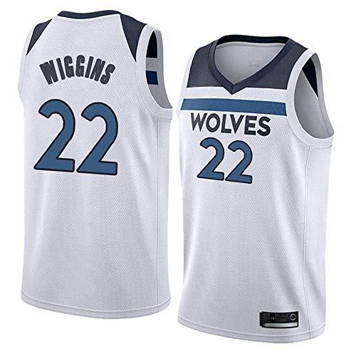 xisnhis nba jerseys,Heren Vrouwen Jersey - Timberwolves 22# Wiggins Jerseys Ademend Geborduurd Basketbal Swingman Jersey, (SIZE:S-XXL)