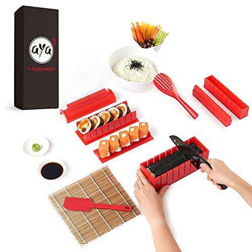 Sushi Making Kit, Aya Sushi Maker 2, Online Video Tutorials Complete with Sushi Knife & Bamboo...