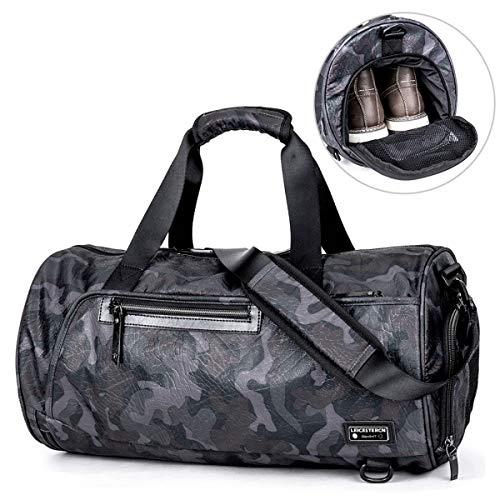 LEICESTERCN Sporttasche Herren/Reisetasche Weekender, Gym Fitnesstasche Trainingstasche Sport Tasche mit Schuhfach Handgepäck für Männer und Frauen-MEHRWEG