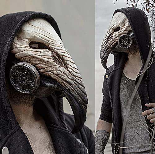 WBXM Maschera del Becco del Dottore della Peste Maschera Steampunk Puntelli di Halloween Prom Cosplay, Maschera Horror