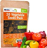 20 Favorite Vegetables Seeds Pack - Heirloom and Non GMO, Grown in USA...