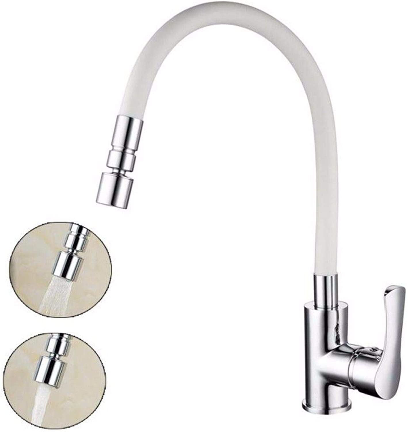 MulFaucet redating hot and Cold Kitchen Faucet Sink dishwashing Sink Faucet Kitchen Double Outlet Faucet D