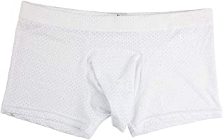 AOQIANG Mens Underwear Breathabl Hole Long Pouch Smooth Boxer Hipster