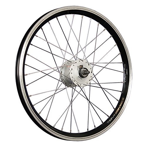 Taylor-Wheels 20 Zoll Vorderrad Laufrad Grünert Dynamic4 Shimano Nabendynamo DH-C3000 schwarz