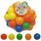 Bällebad24 Lot de 50balles en Plastique, colorées, pour bébé, 5,5cm, pour Les piscines à balles, sans plastifiants Dangereux, 5Couleurs mélangées, certifiées TÜV = Test continu Depuis 2013