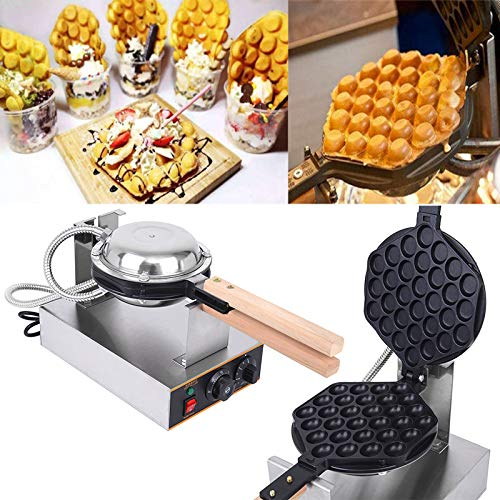 Find Bargain Ridgeyard Professional Bubble Waffle Maker Nonstick Hong Kong Egg Bubble Waffle Maker 1...