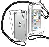 MXKOCO Funda con Cuerda para iPod Touch 5/6/7(2019) [360 Grados Protección] Carcasa de movil con Cuerda para Colgar-Correa para Hombro y Cordón Colgante/Carcasa Banda con Cordon para Llevar