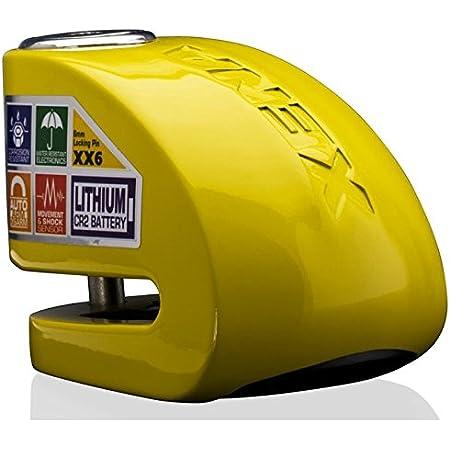 Xena Xx6j 052291 Diebstahlsicherung Bremsscheibenschloss Mit Alarm Gelb Auto