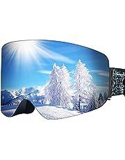 KOOLSEN スキーゴーグル スノーゴーグル スノーボードゴーグル スポーツゴーグル 男女兼用 メンズ レディース ダブルレンズ メガネ対応 3層スポンジ 通気 防風 防塵 防雪 軽量 耐衝撃 男女兼用 山登り/スキーなど用