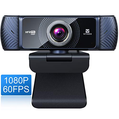 Vitade Webcam 1080P 60fps mit Mikrofon zum Streamen, 682H Pro HD USB Computer Web Cam Webkamera für Spielekonferenzen Mac Windows Desktop PC Laptop Xbox Skype OBS Twitch YouTube