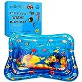 Swonuk Tapis de Jeu Gonflable Tapis d'eau bébé Matelas Eau Bebe Poisson Enfants Sensoriel Jouets 40*32 inch