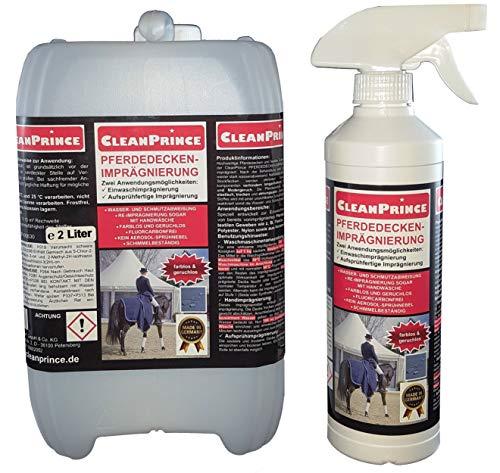 CleanPrince 2,5 Liter Pferdedeckenimprägnierung Pferdedecke Imprägnierung Wetterschutz Imprägniermittel Fleckschutz