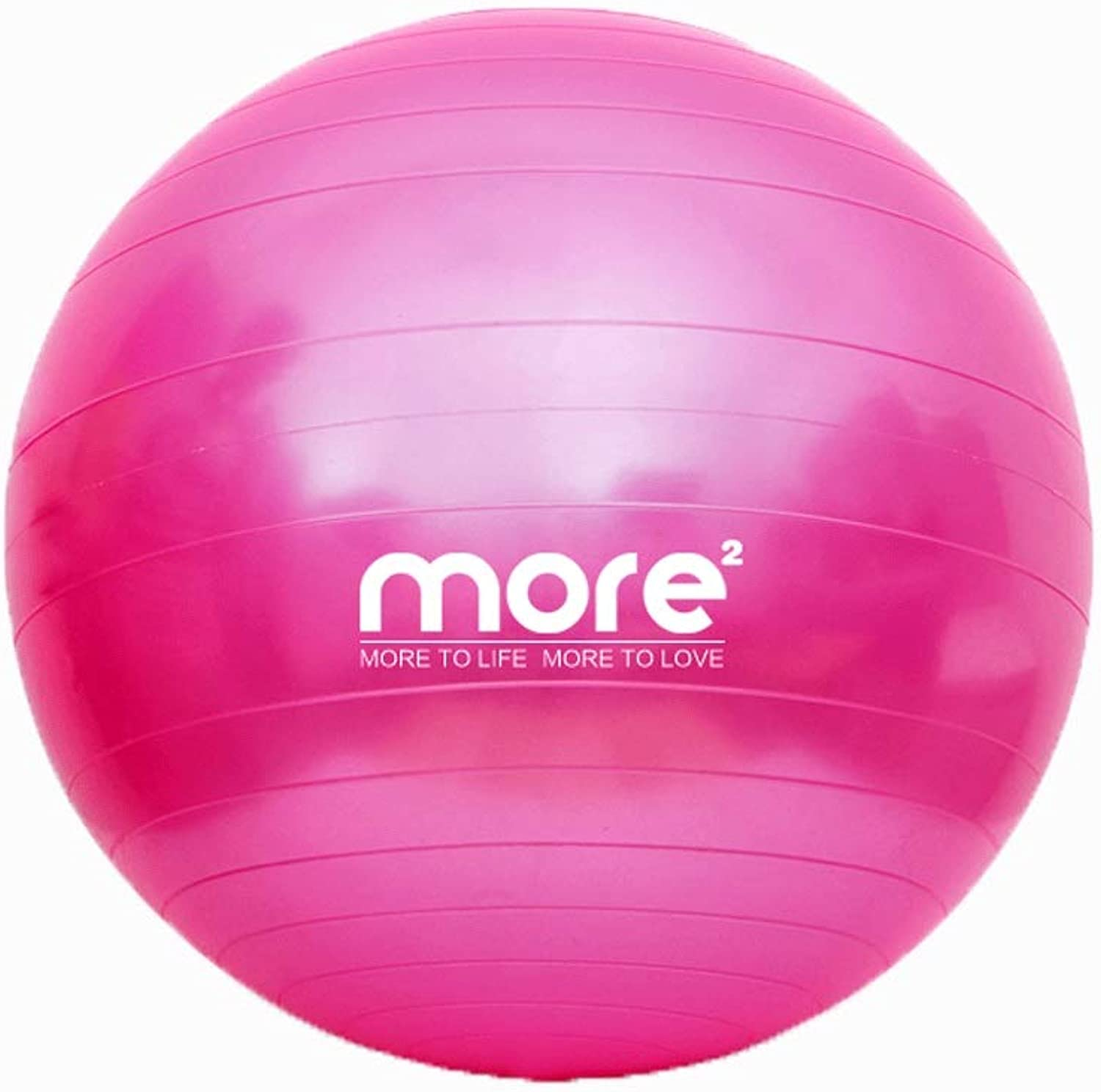 Yoga Ball Thicken ExplosionProof Gym Ball Midwifery Lose Weight Balance Ball Fitness Sports and Fitness Ball (color   Purple, Size   55CM)