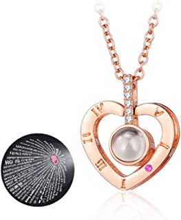 Dan's Collectibles and More I Love You Forever Heart 100 Language Micro Projection Necklace Valentines Day 2019 Wedding Orb Birthday Handmade Cupid