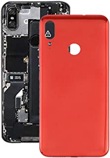 Mobile Phones Communication Accessories Battery Back Cover for Motorola Moto E6 Plus (Color : Red)