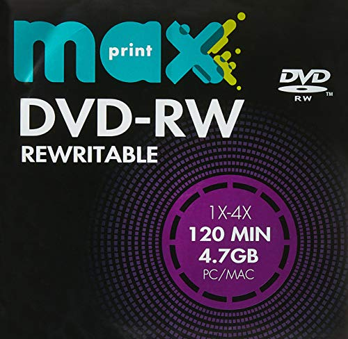 MÍDIA DVD-RW Gravável MAXPRINT 4.7 GB - 120 MIN - 16X - Envelope Papel