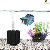 SunGrow 10-Gallon Betta Sponge Filter, Underwater Center Aquarium Filter, Works for Tropical Fish &...