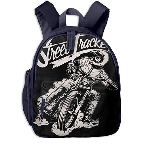 Kinderrucksack Kleinkind Jungen Mädchen Kindergartentasche Chopper Biker Reiten Motorrad Garage Backpack Schultasche Rucksack