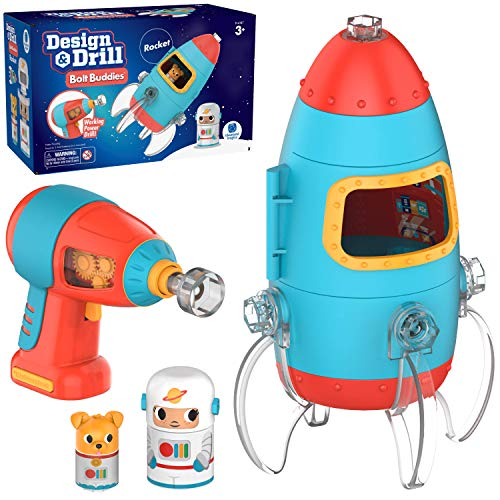 Learning Resources- Cohete de Design & Drill con Figuras atornillables Bolt Buddies (EI-4187)
