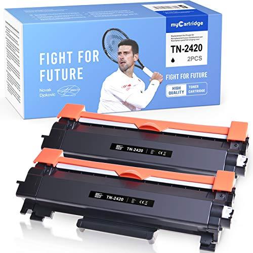 MyCartridge 2 Toner Kompatibel Brother TN-2420 TN 2420 für Brother MFC-L2710DW MFC-L2750DW HL-L2350DW MFC-L2710DN DCP-L2550DN (Schwarz)