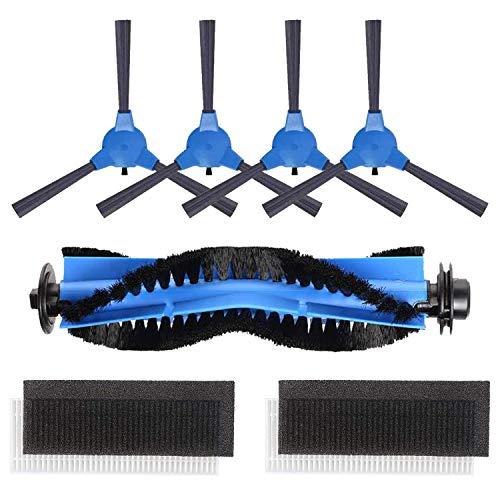 HALIEVE Filter Bürste Ersatzteile Zubehör Set für Bagotte BG600 BG700 BG800 Staubsauger Roboter (1 Zentrale Bürste + 2 Filter + 4 Seitenbürste)