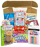 Birthday Box - Filled With Birthday Treats - Birthday Badge, Birthday Cake Popcorn, Cookies, Candy, Cake, Candles, More (Birthday Sweets Surprise)