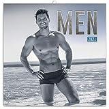 Männer Wandkalender 2021 Men Erotik Kalender, Broschurkalender XXX Kalender Broschürenkalender 30 x 30 cm (30x60 Geöffnet)