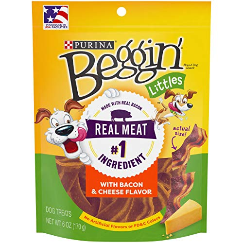 Purina Beggin' Made in USA Facilities Small Breed Dog Treats, Littles With Bacon