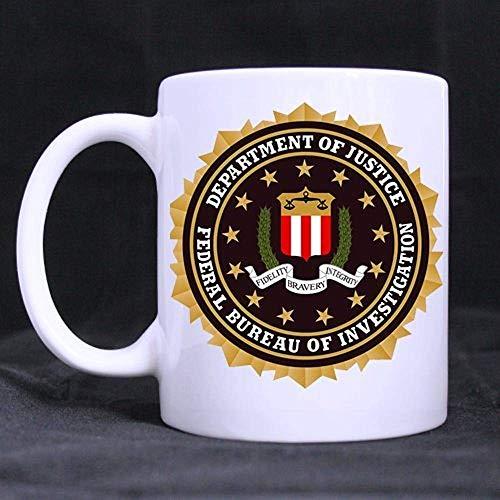Fondo de impresión Fbi Taza de cerámica blanca/taza de café