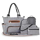 Diaper Bag – Multifunctional Baby Diaper Bag – Versatile Baby Bag with Changing Pad, Bottle Bag...