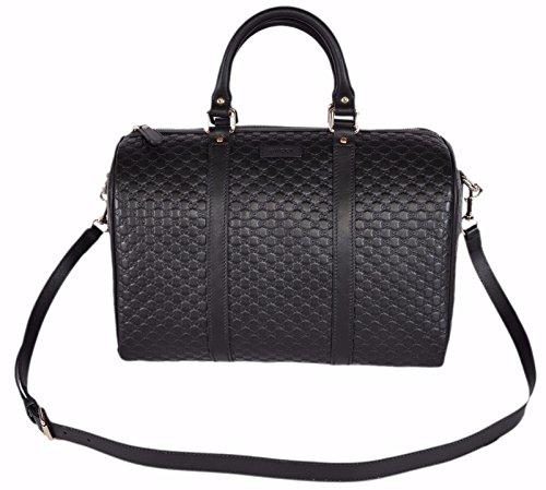 Fashion Shopping Gucci Women's Leather Micro GG Guccissima Convertible Boston Satchel Handbag