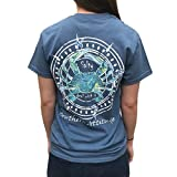 Southern Attitude Salty Deal with It Crab Indigo Blue Short Sleeve T-Shirt (2X-Large)