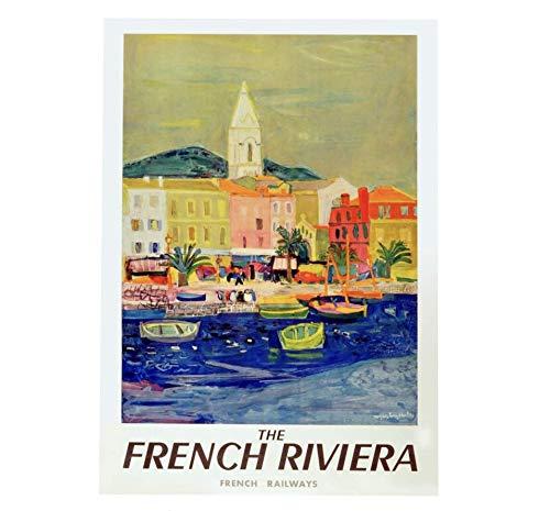 Heiwu 1000 pcs Puzzle pcs Puzzle Rompecabezas Visite la Riviera Francesa Retrofrance France educativos para niños educativos Juegos de