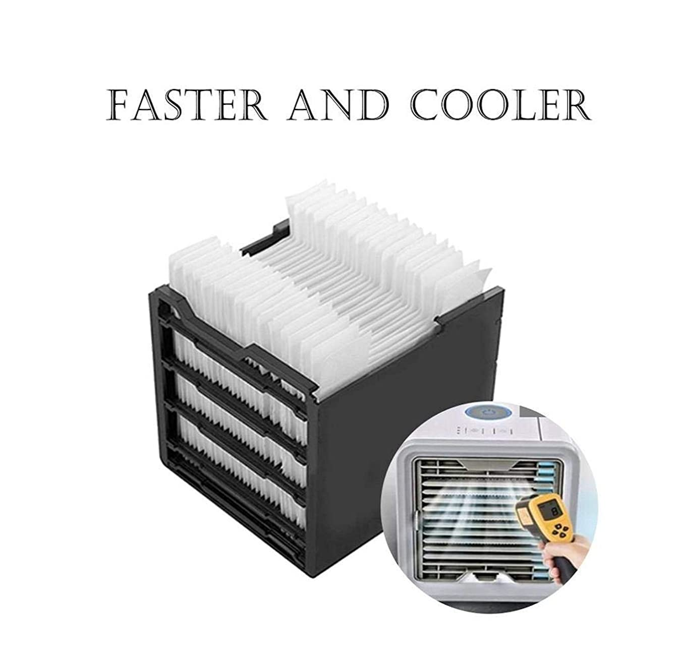 Beginning 1Pcs Arctic Air Personal Space Cooler Replacement Filte Space Cooler Replacement Filter Portable LED Table Fan, Ultra-Quiet Table Fan for Home Office Bedroom Kids (White)