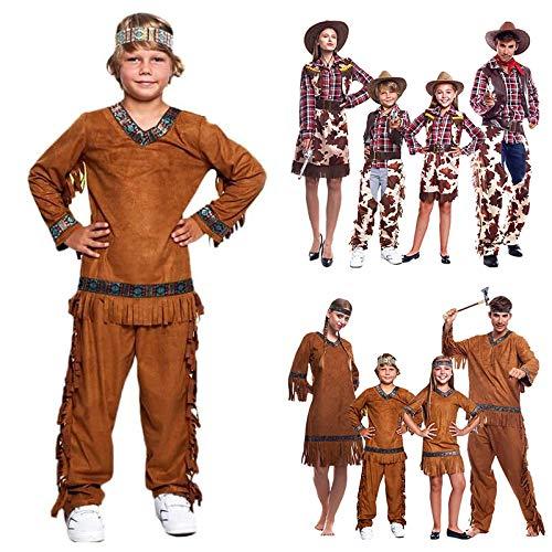 Disfraz Indio nio Indgena AmericanaTallas Infantiles 3 a 12 aos[Talla 3-4 aos] Disfraz Carnaval nio Nacionalidades Disfraces Indios Americanos Cowboys del Oeste Desfiles Festivales