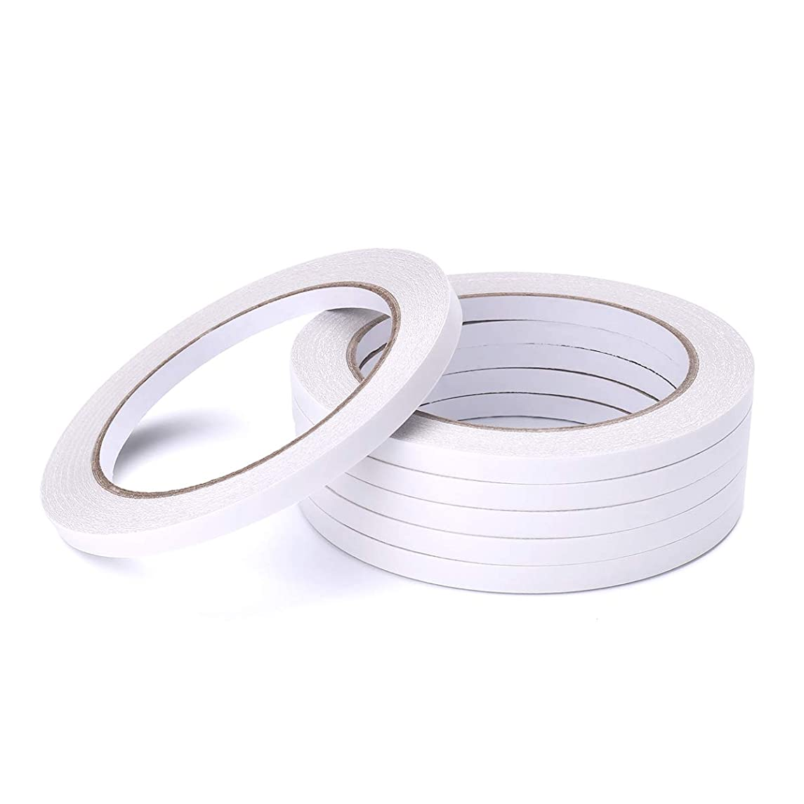 6 Rolls Double Sided Office Tape by LE PAPILLION JEWELRY - Clear Double-Sided Adhesive Tape Removable for DIY Arts, Crafts, Scrapbook, Photos Display ect,1/4-Inch x 22.9 Yards (6.35mm x 21m)