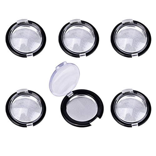 JUNKE 6 PCS Mini Plastic Empty Eye Shadow Power...