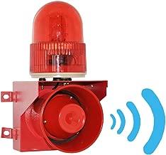 YJINGRUI Industrial Sound and Light Alarm Siren Waterproof/Dustproof Horn Alarm System with 120 db (DC24V)