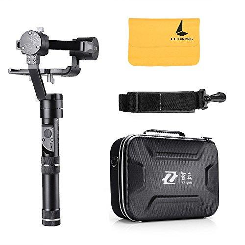 Zhiyun crane-m Stabilizzatore Cardanico portatile a mano in 3assi–Tre 32bit microcontrollore, 360gradi di rotazione illimitata, 12Ore di funzionamento, 125g a 650g di carico, compatibile con smartphone/Telecamere Sport/Fotocamera Digitale/Fotocamera Compatta