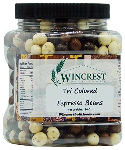 Chocolate Espresso Beans - 24 Oz Tub (Tri Color)