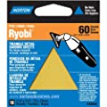 Norton 07660749284 Adhesive Backed Triangle Sanding Sheet for Ryobi Sander, P60 Grit, Coarse Grade (Pack of 10)